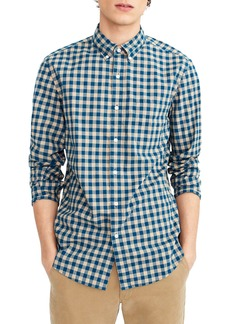 J.Crew Slim Fit Stretch Secret Wash Heather Gingham Poplin Shirt
