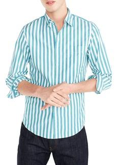 J.Crew Slim Fit Stretch Secret Wash Stripe Sport Shirt