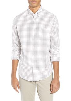 J.Crew Slim Fit Stretch Secret Wash Stripe Tattersall Sport Shirt