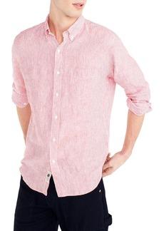 J.Crew Slim Fit Stripe Irish Linen Shirt