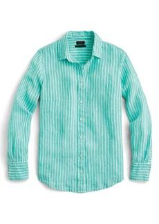 J.Crew Slim Perfect Stripe Irish Linen Shirt