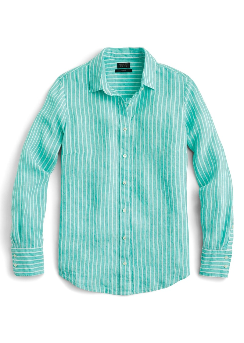 c3671043c SALE! J.Crew J.Crew Slim Perfect Stripe Irish Linen Shirt
