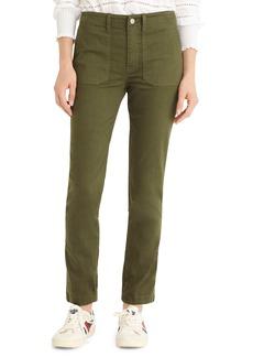 J.Crew Slub Sateen Straight Leg Cargo Pants (Regular & Petite)
