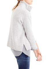 J.Crew Snap Placket Pullover Sweater