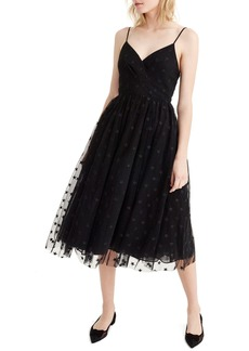 J.Crew Spaghetti Strap Star Tulle Dress (Regular & Petite)