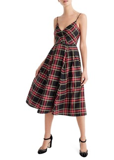 J.Crew Spaghetti Strap Stewart Plaid A-Line Dress