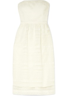 Stanbury strapless crocheted lace midi dress