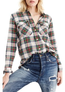 J.Crew Stewart Tartan Oversize Button-Up Shirt (Regular & Petite)