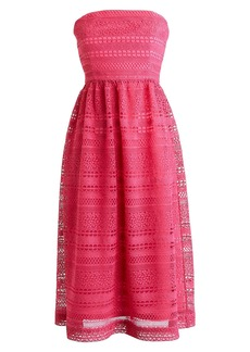 J.Crew Strapless Lace Dress