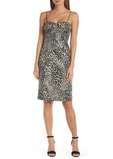 J.Crew Strapless Metallic Leopard Spot Party Dress