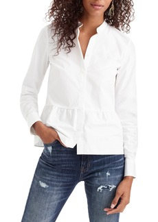 J.Crew Stretch Button-Up Peplum Shirt (Regular & Petite)