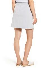 J.Crew Stretch Seersucker Button Front Miniskirt