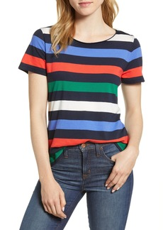 J.Crew Stripe Crewneck Supima® Cotton Tee