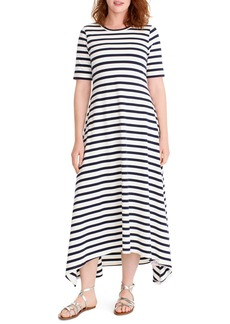 J.Crew Stripe Knit Maxi Dress