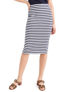 J.Crew Stripe Knit Pencil Skirt