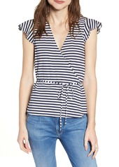 J.Crew Stripe Knit Wrap Top