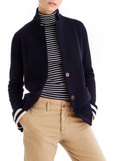 J.Crew Stripe Lining Merino Wool Sweater Blazer