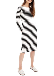 J.Crew Stripe Long Sleeve Cotton Dress (Regular & Petite)