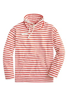 J.Crew Stripe Mariner Cloth Funnel Neck Pullover