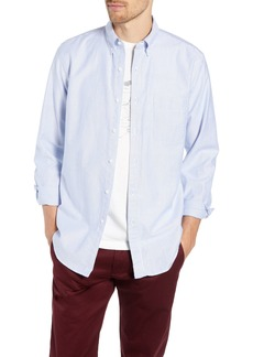 J.Crew Stripe Pima Cotton Oxford Sport Shirt