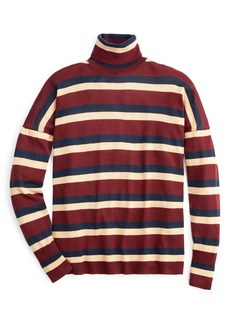J.Crew Stripe Turtleneck Boyfriend Sweater