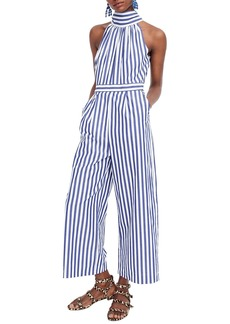 J.Crew Striped Halter Jumpsuit
