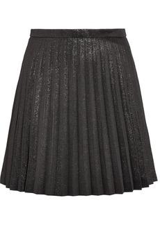 J.Crew Sweetbriar Pleated Cotton-blend Lamé Mini Skirt