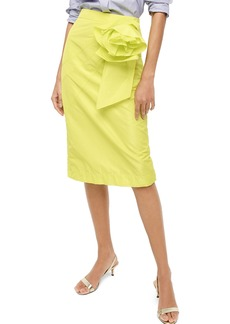 J.Crew Taffeta Rosette Pencil Skirt