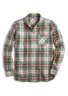 J.Crew Tartan Classic Fit Twill Boy Shirt