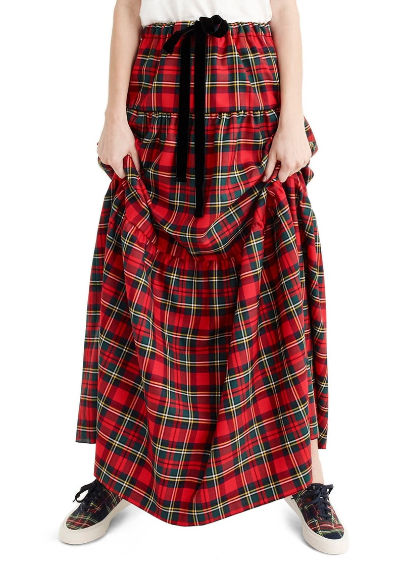 1c2fed3175 J.Crew J.Crew Tartan Plaid Tiered Maxi Skirt (Regular & Petite) | Skirts