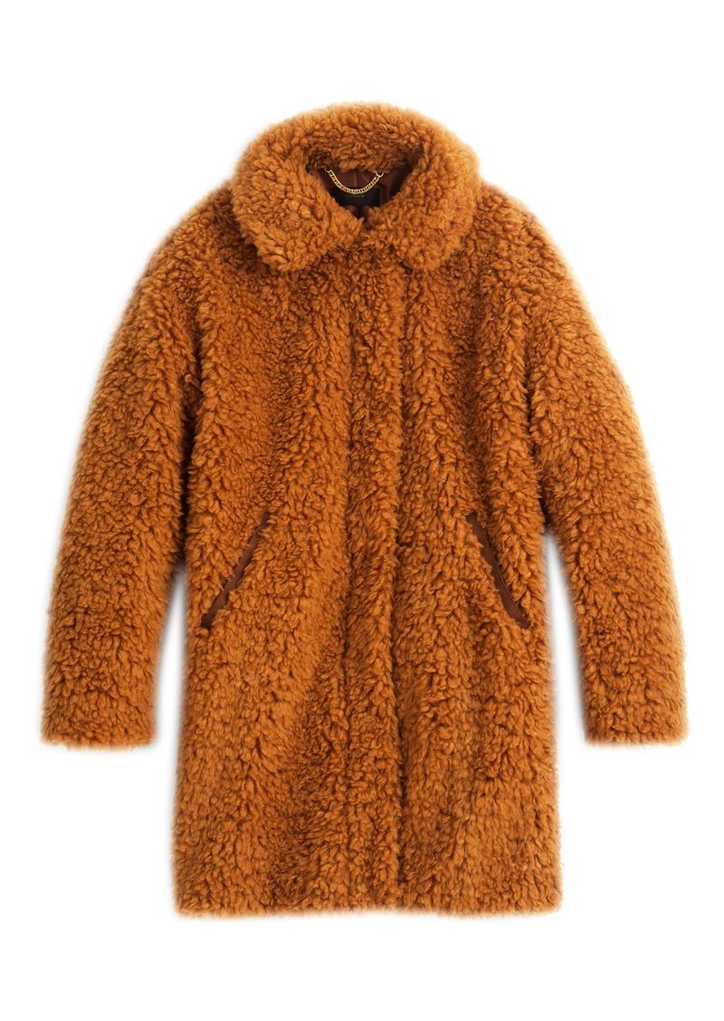 091e01e331975 J.Crew J.Crew Teddy Faux Fur Coat