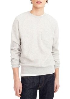 J.Crew Textured Piqué Fleece Sweatshirt