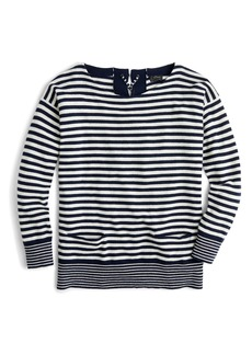 J.Crew Tie-Back Cashmere Pullover Sweater