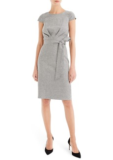 J.Crew Tie Front Micro Houndstooth Dress