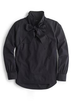 J.Crew Tie-Neck Cotton Top