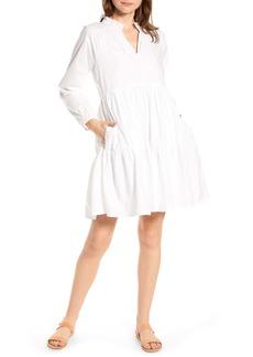 J.Crew Tiered Popover Cotton Poplin Dress