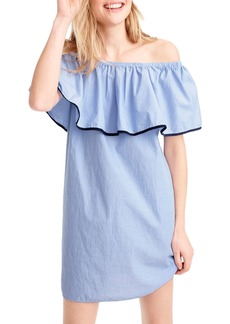 J.Crew Tipped Off the Shoulder Shift Dress