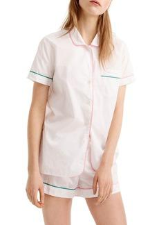 J.Crew Tipped Short Cotton Pajamas