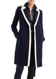 J.Crew Tipped Wrapped Stadium Cloth Coat