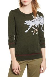 J.Crew Tippi Intarsia Cheetah Sweater