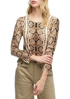 J.Crew Tippi Snake Print Sweater