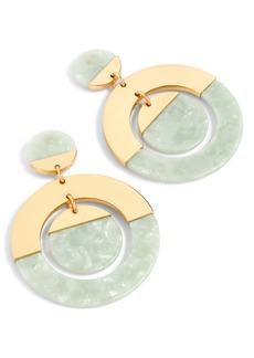 J.Crew Tortoiseshell Double Disc Earrings