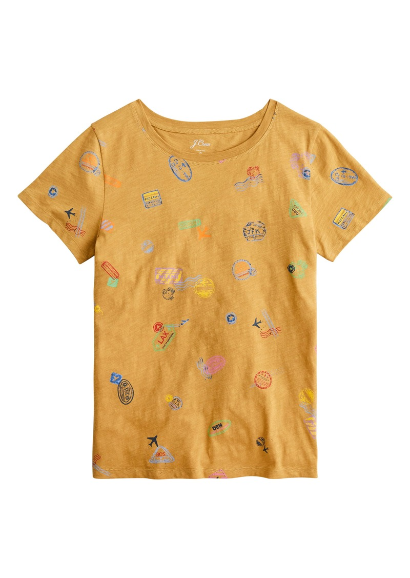 J.Crew Travel Tags Cotton T-Shirt