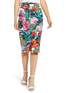 J.Crew Tropical Grasscloth Pencil Skirt