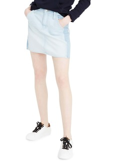 J.Crew Two-Tone Denim Miniskirt