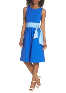 J.Crew Two-Tone Tie Waist Sheath Dress (Nordstrom Exclusive)