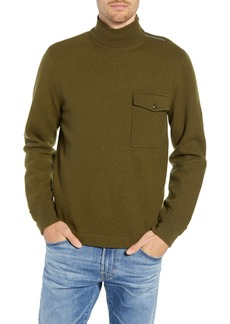 J.Crew Wallace & Barnes Felted Merino Wool Mock Neck Pullover