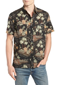 J.Crew Wallace & Barnes Regular Fit Tropical Print Sport Shirt