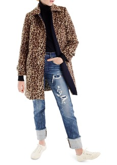 J.Crew Double Leopard Topcoat (Regular & Petite)
