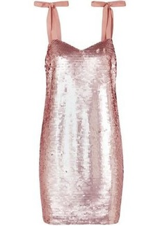 J.crew Woman Sequined Tulle Mini Dress Rose Gold